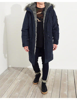 Faux Fur Lined Down Parka by Hollister