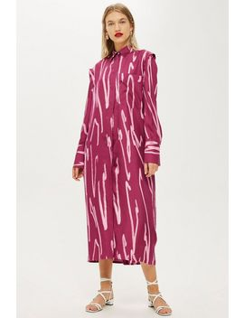 **Squiggle Split Shirt Dress By Boutique by Topshop