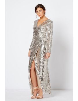 **Sequin Wrap Dress By Club L London by Topshop