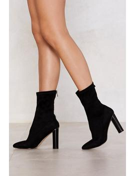 Rocking Around The Sock Heeled Bootie by Nasty Gal
