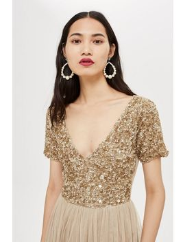 **Chandelier Midi Dress By Lace & Beads by Topshop