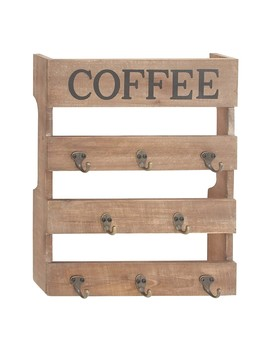 "Wooden Metal Coffee Hook Frame   15""X19"" by Uma"