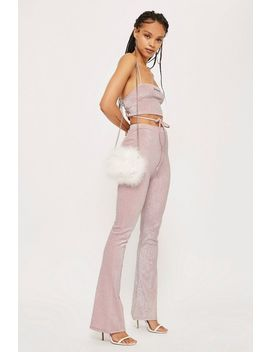 Pink Bralet And Flare Trousers Set By New Girl Order by Topshop