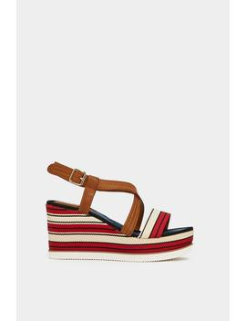 Feeling Nautical Tonight Striped Wedge by Nasty Gal