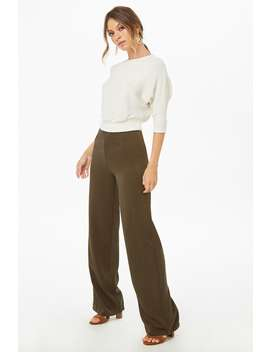 Straight Leg High Waisted Trousers by Forever 21