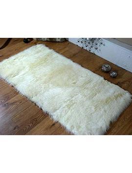 Cream Ivory Faux Fur Oblong Sheepskin Rug 70 X 140 Cm Washable by Amazon