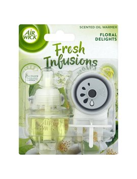 Air Wick Floral Delights Infusions Electric       Plug In Scented Oil Warmer 19ml by Wilko