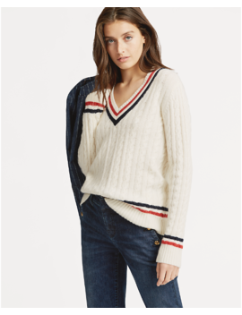 Cable Knit Cricket Sweater by Ralph Lauren