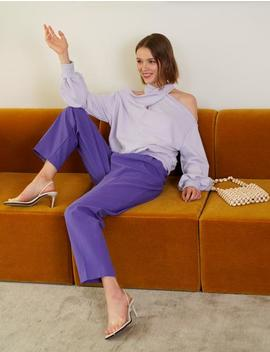 Nico Lavender Sweatshirt by Pixie Market