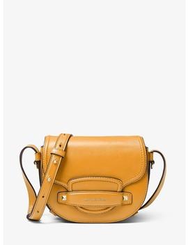 Cary Small Leather Saddle Bag by Michael Michael Kors