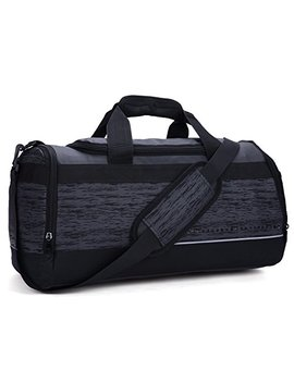 Mier 20 Inch Gym Bag With Shoe Compartment Men Duffel Bag, Medium, Black by Mier
