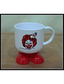 Vintage Mc Donald's Ronald Mc Donald Red Shoe Birthday Mug, Mc Donalds Novelty Plastic Cup, Mc Donald's Collectible, Nostalgia by Infinity Creations Co