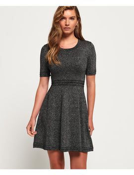 Riley Fit & Flare Knitted Dress by Superdry