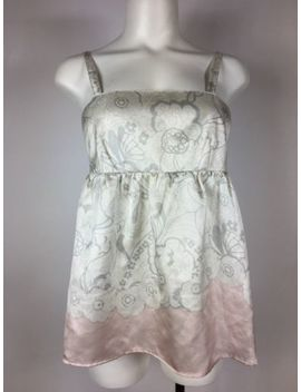 See By Chloe Corset Floral Cream Pink Sleeveless Silk Top 4 by See By Chloé