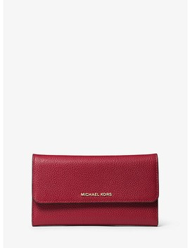 Mercer Tri Fold Leather Wallet by Michael Kors
