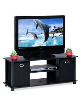Furinno 13054 Bk/Bk Econ Entertainment Center With Storage Bins by Furinno