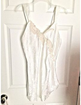 Victoria's Secret White Satin Brocade W/Lace Chemise Short Night Gown Size S by Victoria's Secret