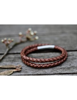 Tan  Islington Leather Bracelet by Joulberry