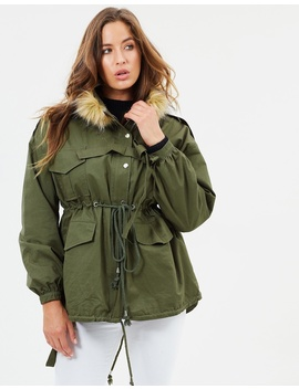 Anorak With Detachable Fur Collar by Lioness