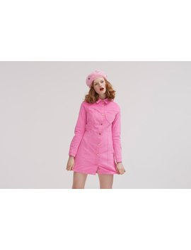 Lazy Oaf Pink Velvet Dress by Lazy Oaf