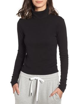 Turtleneck Stretch Cotton Crop Top by Stateside