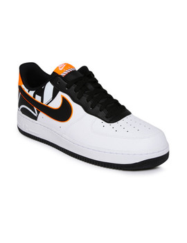 Nike Men White & Black Air Force 1 '07 Lv8 Sneakers by Nike