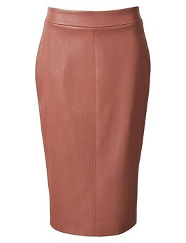 Brydie Leather Skirt by Witchery