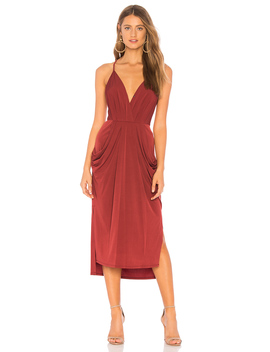 Midi Faux Wrap Dress by Bcb Generation