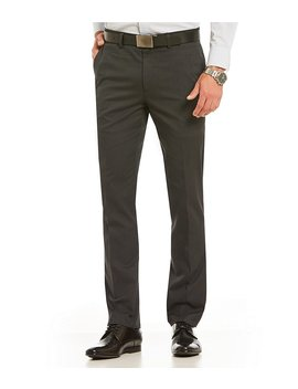Alex Modern Slim Fit Flat Front Dobby Dress Pants by Generic