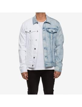 New Slaves 2 Tone Denim Jacket Denim/White by New Slaves