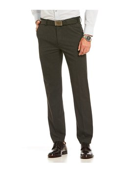 Alex Performance Flat Front Slim Fit Tech Fit Dress Pants by Generic