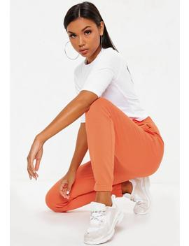 Orange Loopback Slim Leg Joggers by Missguided
