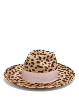 Leopard Print Rabbit Felt Hat by Federica Moretti
