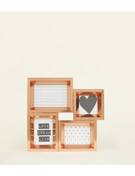 Rose Gold Multi Picture Frame by New Look