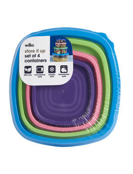 Wilko Rainbow Container 4 Piece Set by Wilko