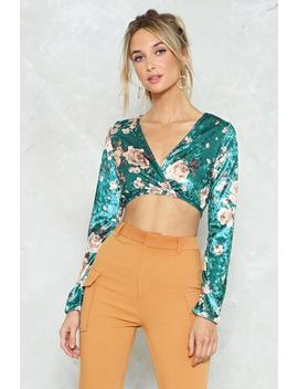 Pick Of The Crop Velvet Crop Top by Nasty Gal