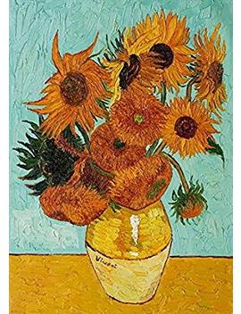 Wieco Art Sunflower By Vincent Van Gogh Oil Paintings Reproduction Modern Floral Giclee Canvas Prints Artwork Flowers Pictures On Canvas Wall Art For Home And Office Decorations by Wieco Art