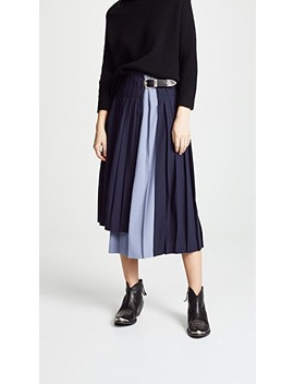 Wool Pleated Skirt by Toga Pulla