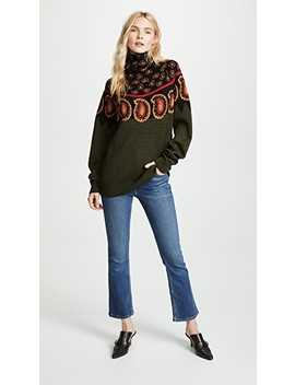 Wool Jacquard High Neck Sweater by Toga Pulla