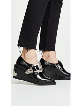 Buckled Wedge Oxford Shoes by Toga Pulla