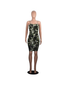Haoyuan Camouflage Plus Size Sexy Dress 2018 Summer Off Shoulder Mini Party Beach Dress Backless Club Bodycon Dresses For Women by Haoyuan