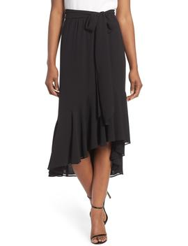 Asymmetrical High/Low Flounce Skirt by Eliza J