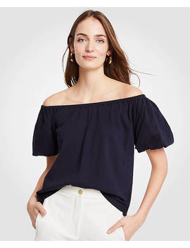 Pima Cotton Off The Shoulder Tee by Ann Taylor