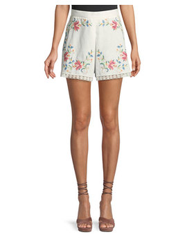 Laelia Cross Stitch Floral Shorts by Zimmermann