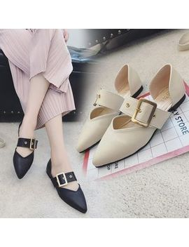 Buckled Pointed Flats by Qq Trend