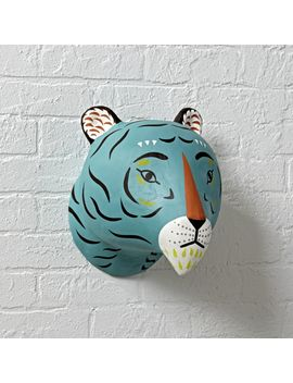 Paper Mache Tiger Head by Crate&Barrel