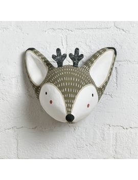 Paper Mache Deer Head by Crate&Barrel