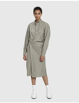 High Collar Twisted Dress by Lemaire