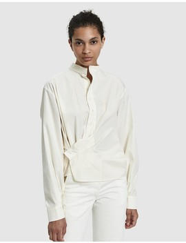 High Collar Twisted Shirt by Lemaire