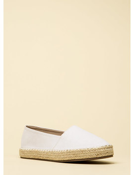 On Vacation Canvas Moccasin Flats by Go Jane